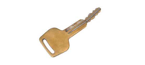 Picture of broken bronze keys